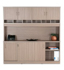 Wall Unit with Pigeon Hole Slots and Cupboard Doors - TL