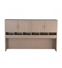 Pigeon Hole Hutch with Cupboard Doors - Tawny Linewood