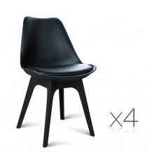 Eames DSW Visitor Chairs x 4 Black