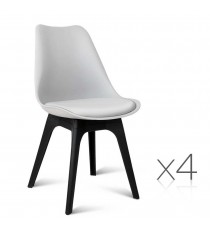 Eames DSW Visitor Chairs x 4 White