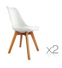 Eames Inspired Client Chairs x 2 - White