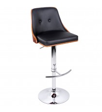 PU Leather Wooden Bar Stool
