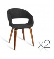 KInn Visitor Chair Dark Timber Legs