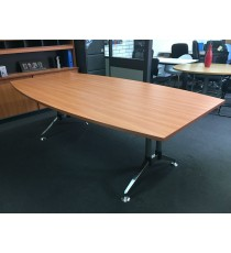 Boardroom Table with Splayed Polish Chrome Legs