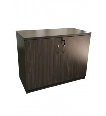 Hinge Door Credenza / Buffet 900L - Blackened Linewood