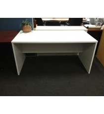 Open Desk FINISHED IN ALL WHITE