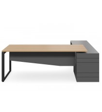 Geo Forum Executive Desk and Box Return - Any Standard Finish