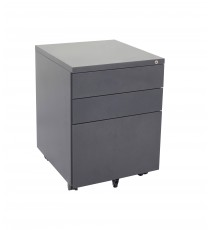 Slim Metal Mobile pedestal 2 drawer + 1 file with lock