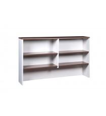 Desk Hutch - Walnut over White 1800L