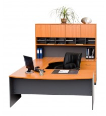 Office Furniture Package Bow front Desk