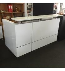 Hugo 2 Pack White Reception Desk 1500L