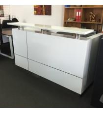 Hugo White 2 Pack Reception Desk