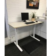 Height Adjustable Desk - Oak Top