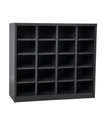 Metal Pigeon Hole Shelving Unit - 20 Holes