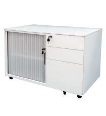 Mobile Caddy with Tambour Door