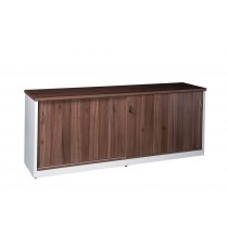 Sliding Door Credenza or Buffet - Walnut