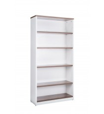 Open Bookcase - Wanut over White