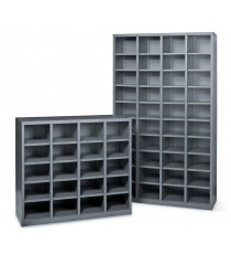Metal Pigeon Hole Shelving Unit - 40 Holes