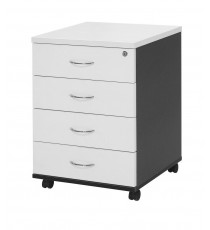 Mobile 4 Drawer Pedestal with Lock