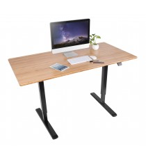 Height Adjustable Desk - 2 Stage Lift - BLACK FRAME