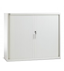Low Height Metal Tambour Door Storage / Stationery Cabinet