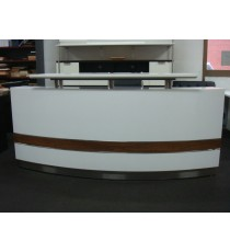 Conservatory Bow Front Reception Counter 1800L