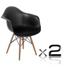 Tub Chair / Cafe Dining Eiffel Armchair x 2 Chairs