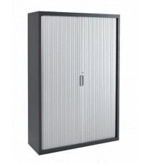 Metal Tambour Door Storage / Stationery Cabinet with 3 Shelves