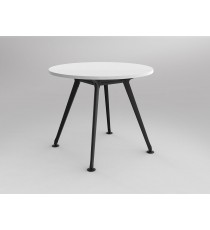 Round Meeting Table with Black 4 way Leg