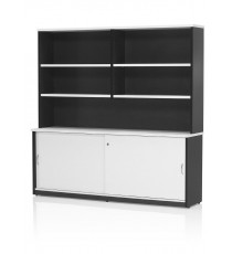 Wall Unit 1800L - White / Charcoal